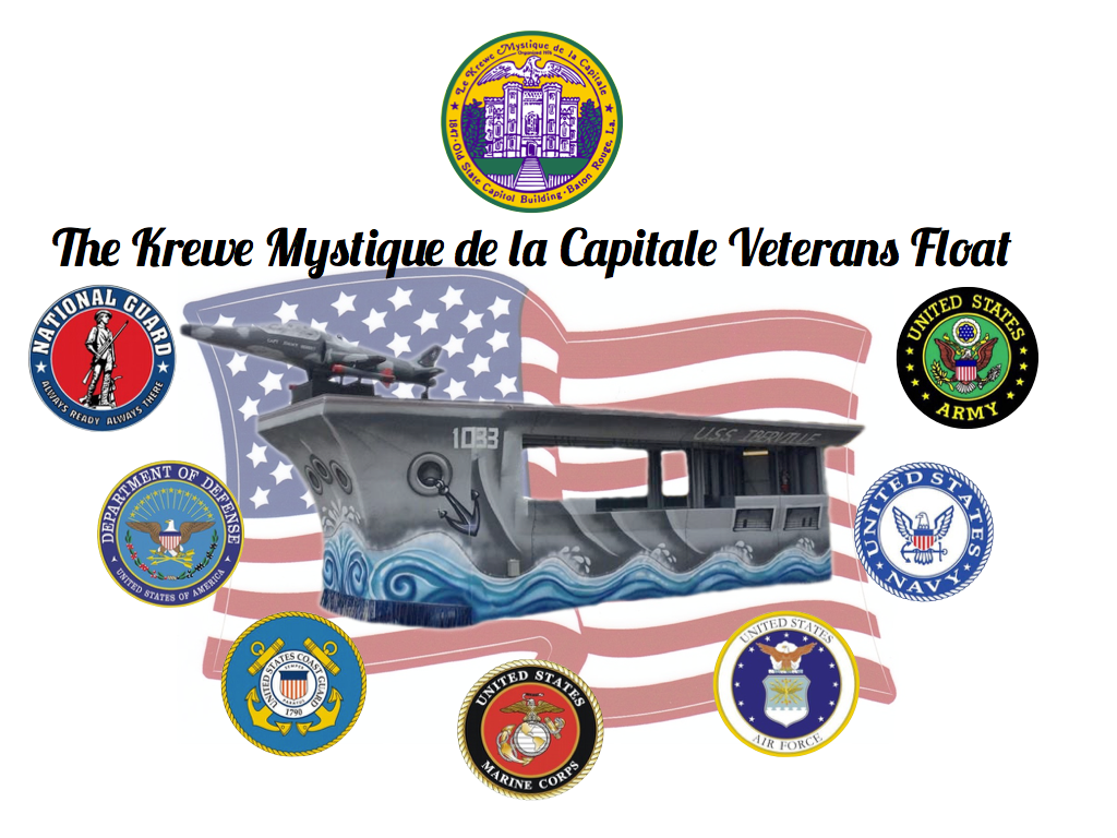 Krewe Mystique Veterans Float